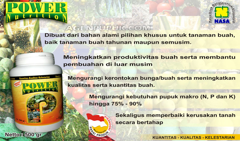 Brosur Power Nutrition NASA